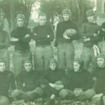 1914 Carrollton High Football - Victor Clark holding the ball