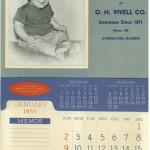 1955 O. H. Vivell Calendar featuring Alan Clark