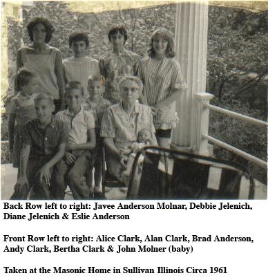 Bertha Clark and Grandchildren - Circa 1961