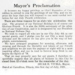 Fourth of July 1925 Proclamation