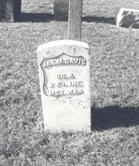James M Davis Grave Marker, Carrollton, IL