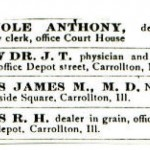 James M. Davis Medical Card Advertisement