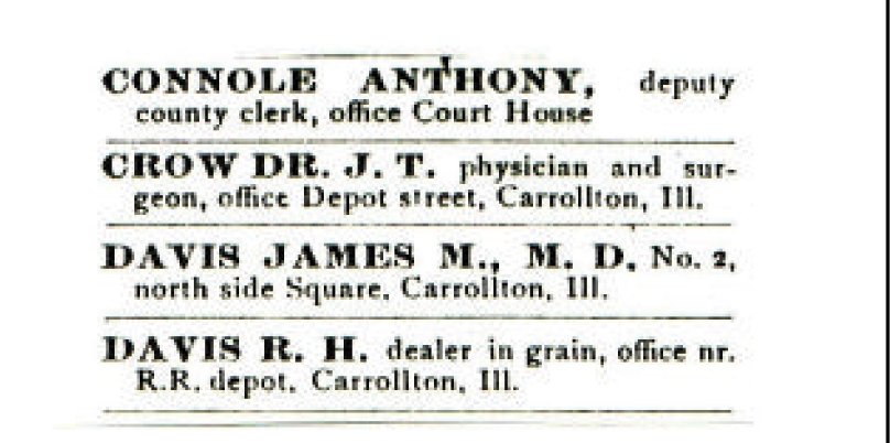 James M. Davis Medical Card Advertisement