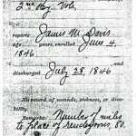 James M.Davis Mexican War Pension