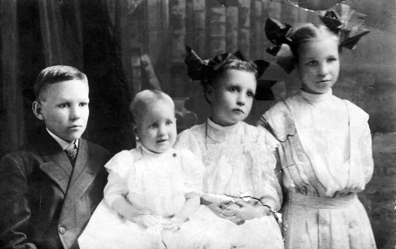 Victor, Louise, Leta, and Ida Mae Clark -- the children of U.D. and Bertha Clark