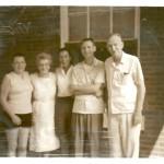 Marge, Violet, Kathleen, John and Victor Clark