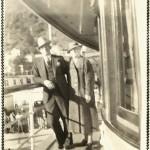 O. H. and Belle Vivell on the Steamship Yukon, Juneau, Alaska 1937