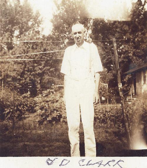 U.D. Clark outdoors in Carrollton