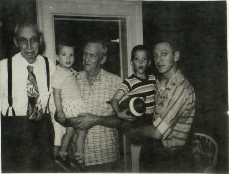 Ulla Dio, Andy, Victor, Alan and John Clark - Circa 1959