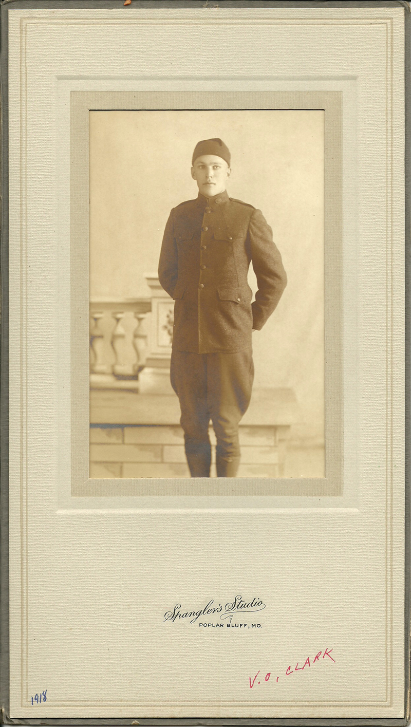 Victor Clark in WWI Uniform 1918