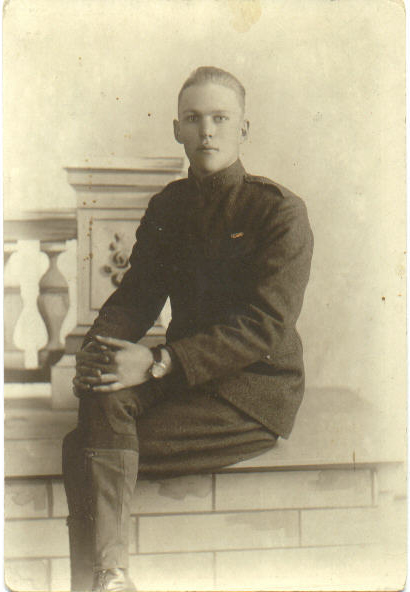 Victor Clark in uniform 1918
