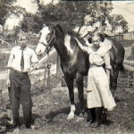 Victor, Mae, Louise and Leta Clark on Ol Dick Circa 1910
