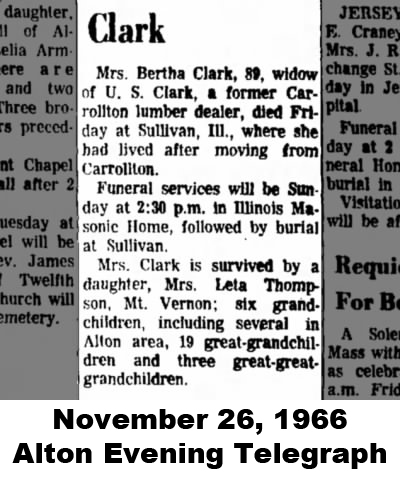 Bertha Clark obit