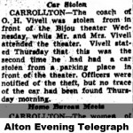 Vivell car stolen