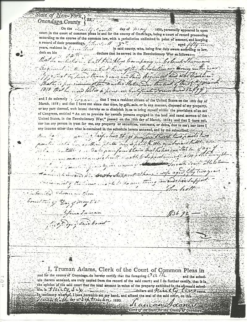 John Scott Revolutionary Pension Claim Page 4