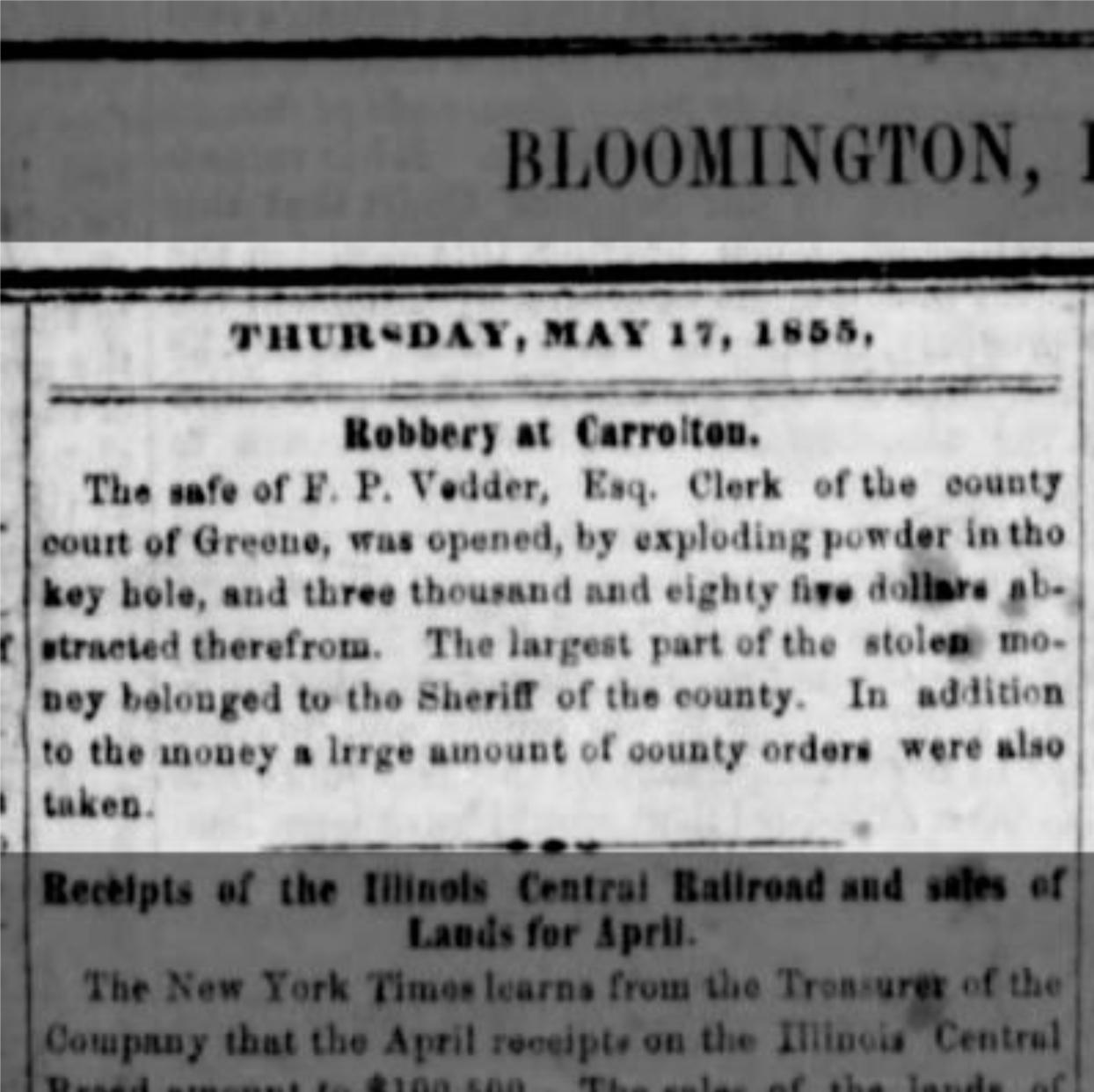 The Weekly Pantagraph Bloomington, Illinois May 23, 1855