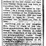 Anna Belle Davis Vivell funeral notice in the Carrollton Gazette