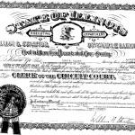 John Clark certificate from William G. Stratton