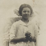 Violet Vivell as a teenager.