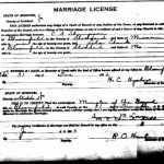 C.S. Thompson and Leta Clark marriage license