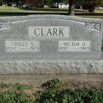 Victor and Violet Clark Headstone, image by Alan Clark