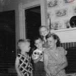 Violet Clark and grandchildren
