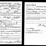 "Clinton Samuel ""C.S."" Thompson WW1 Registration"